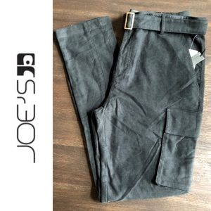 Joes Jeans Black Twill Cropped Army Cargo Pants